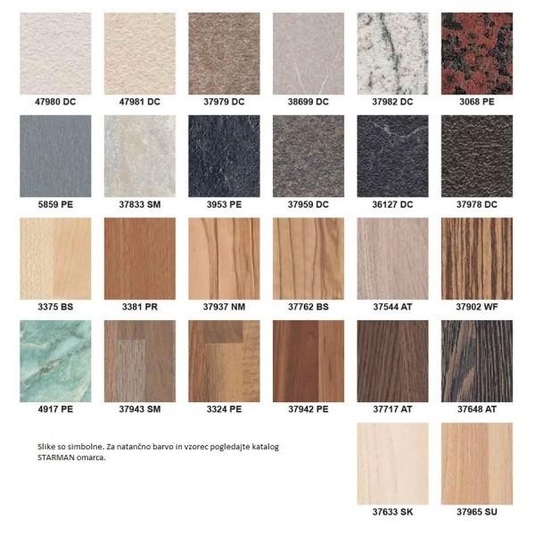 Kovinska postelja VIDA M3 - Barve lesa