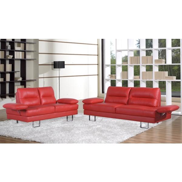 Sedežna garnitura BRAZIL 3+2 - rdeča