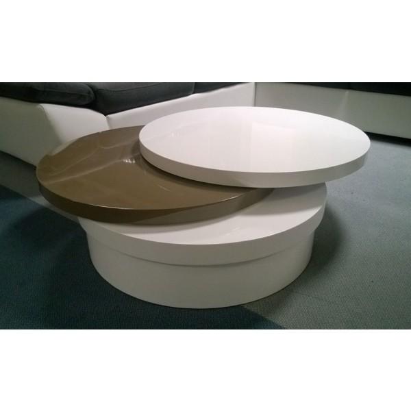 Klubska mizica Capuccino (visoki sijaj)