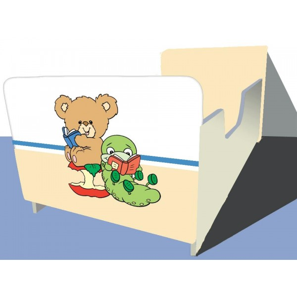 Otroška posteljica PRIJATELJA (rumena)