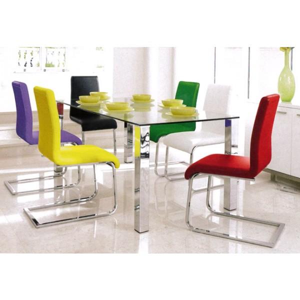 Steklena jedilna miza Mezzi (160x90)
