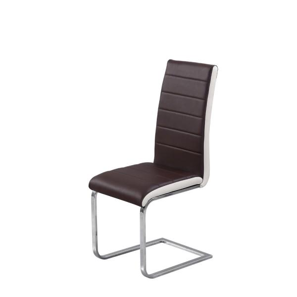 Jedilni stol Triumph: rjav sedežni del, bež rob