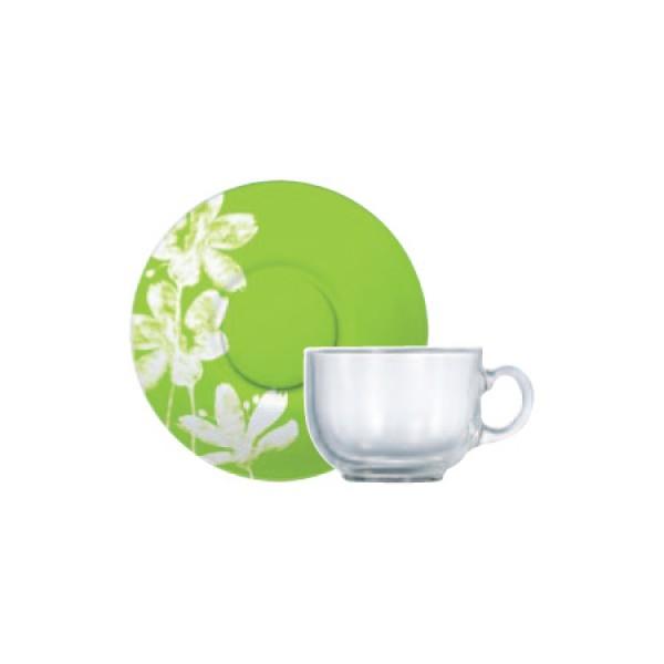 Skodelice za kavo Cotton Flower (6x skodelica in krožnik)