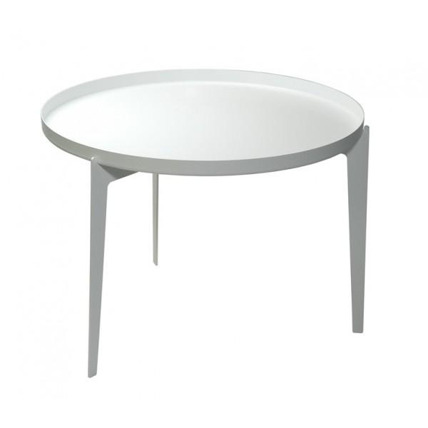 Klubska mizica Illusion velika, bele barve