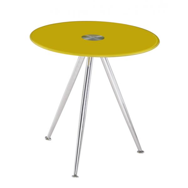 Klubska mizica Karlos - rumena