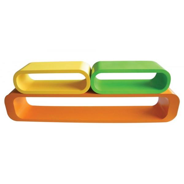 Komplet 3 polic Popoly (dve barvni kombinaciji)