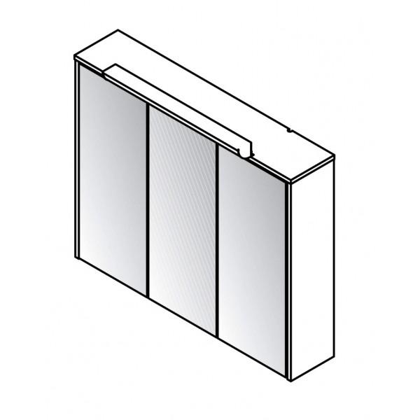 Viseča omara z ogledalom 82067