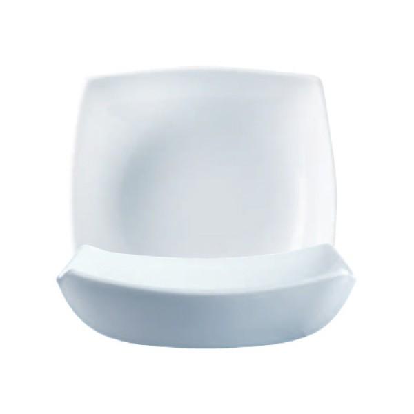 Krožniki Luminarc Quadrato Bela globoki (6 kosov)