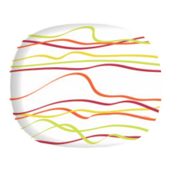 Krožniki Luminarc Rubans plitvi (6 kosov)