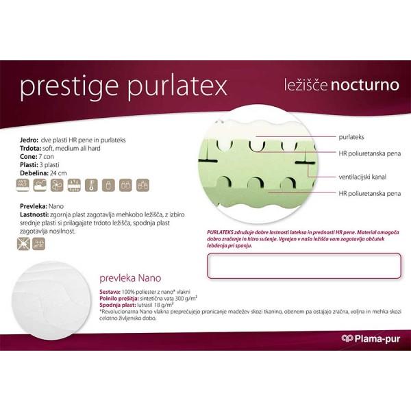 Lastnosti ležišča Prestige Purlatex