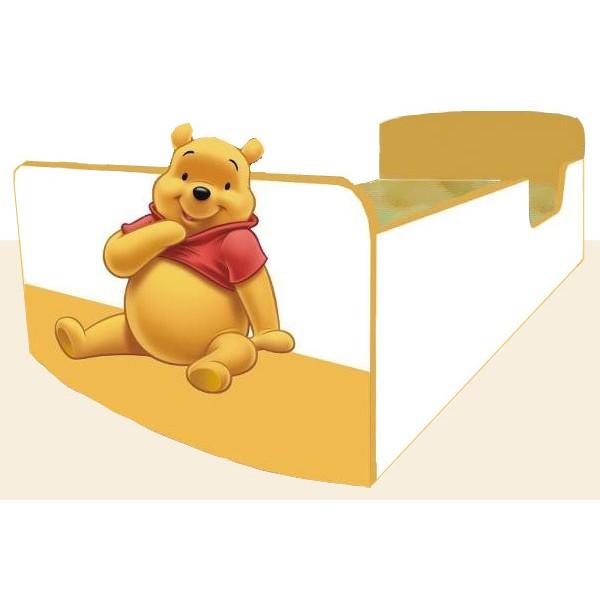 Otroška postelja Medvedek Pu (rumeno-bela