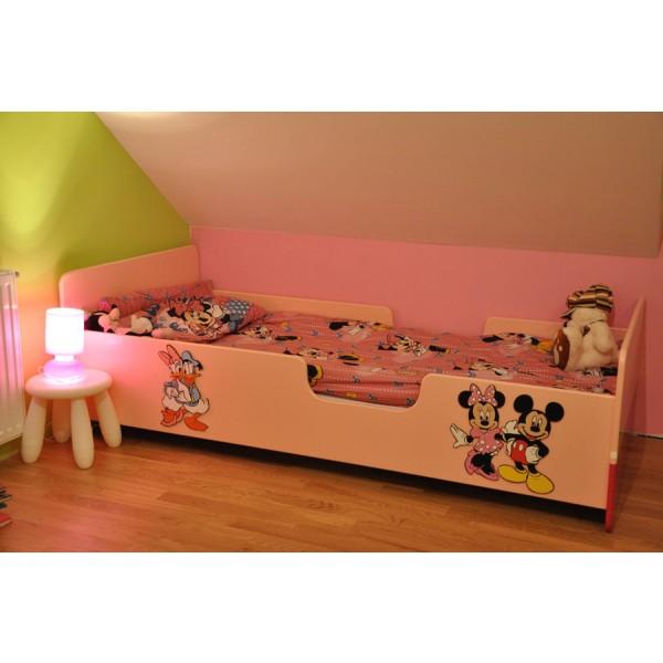 Otroška posteljica MIKI MIŠKA IN RACMAN JAKA (roza)