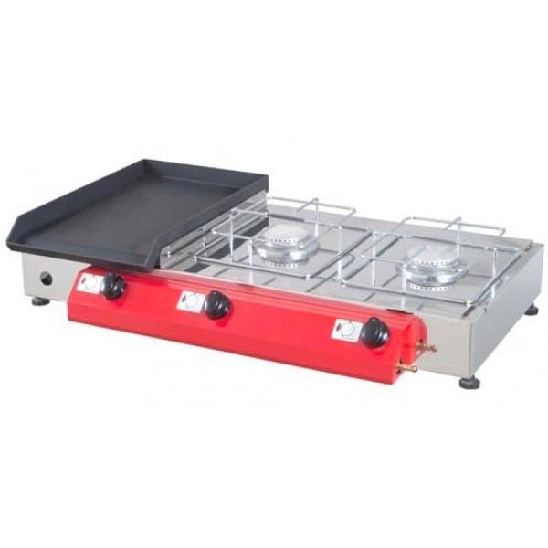 Namizni plinski žar Gorenc, 80x40, Fe plošča, dva kuhalnika, brez nog