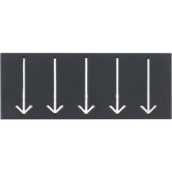 Obešalnik ARROW 5 - črna