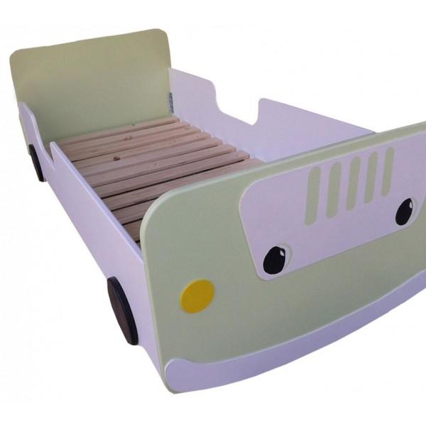 Otroška postelja AVTO zelen