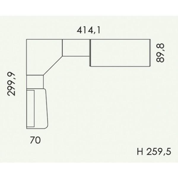 Otroška soba Colombini Volo V309 - tloris