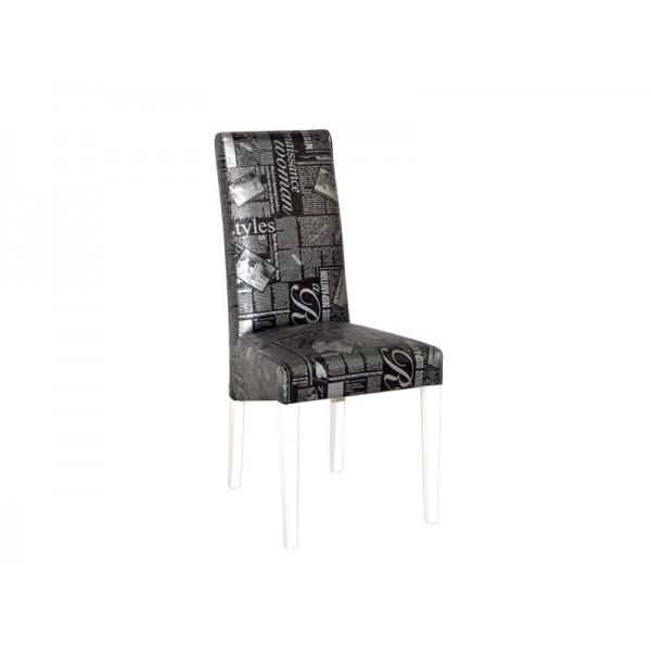 Jedilniški stol PARIS (bela/črna)