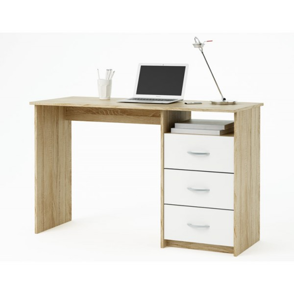 Pisalna miza ARISTOTE - hrast-bela