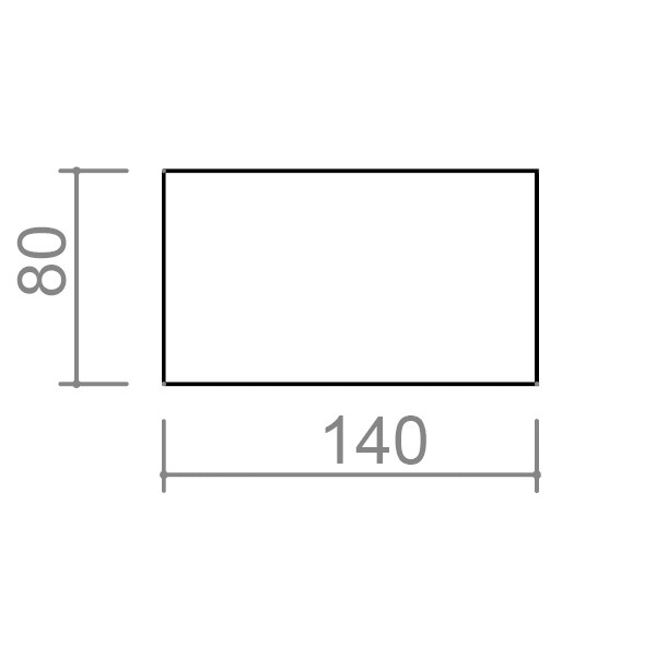 Pisalna miza TK01 - dimenzije - 2