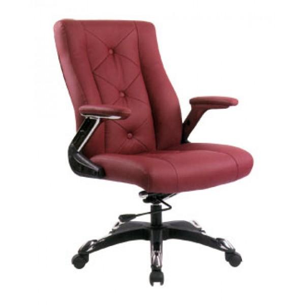 Pisarniški stol NI35 (Eko usnje bordo barve)