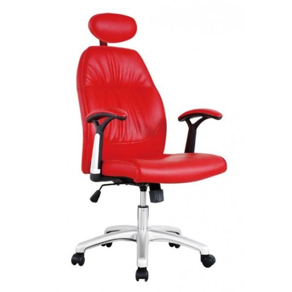 Pisarniški stol NI36 (rdeče EKO usnje)
