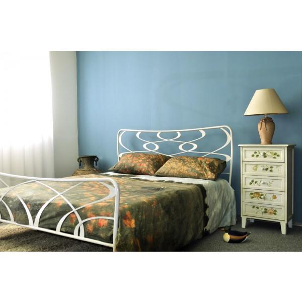 Kovinska postelja GALA bela