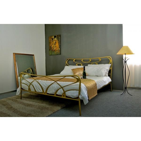 Kovinska postelja GALA zlata