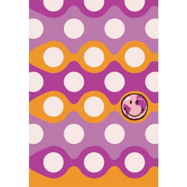 Preproga SITAP Smiley 8905 Purple (dimenzije: 100x150 in 140x200)
