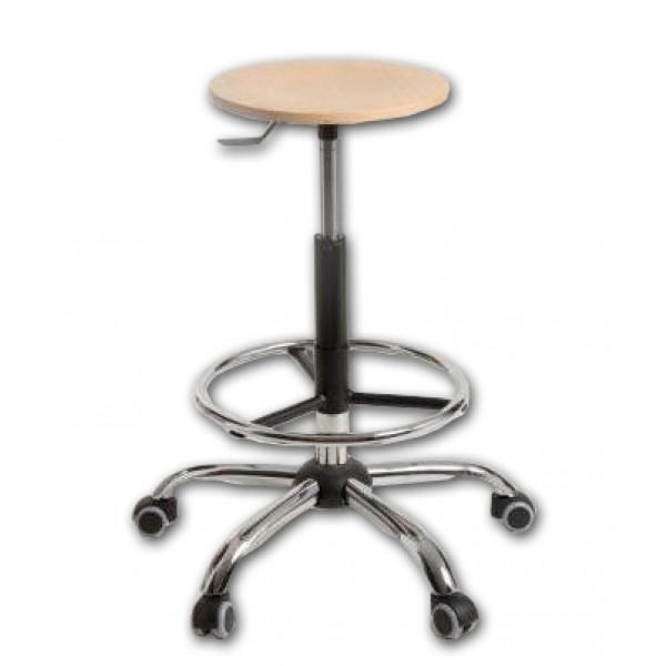 Stol LAB-PRO - kromirano podnožje z obročem za noge