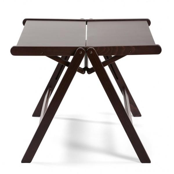 REX miza (vec barv) Čokoladna