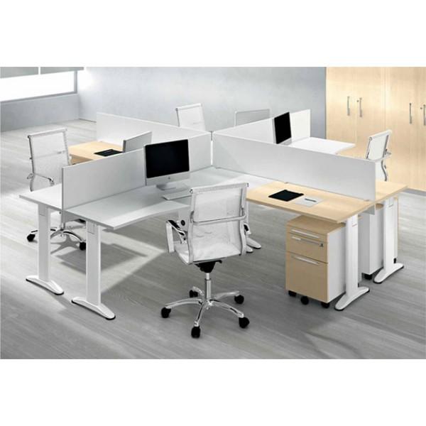 Set pisarniških miz s pregradami in predalniki TK07-4