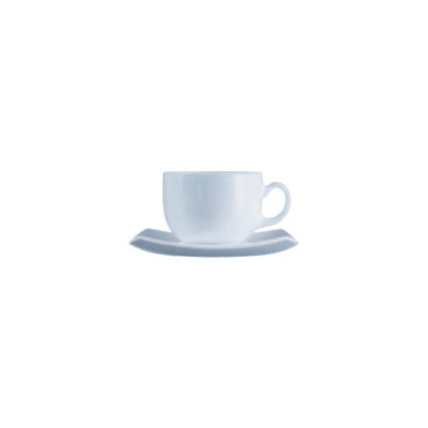 Skodelice za kavo Quadrato Bela 16cl (6x skodelica in krožnik)