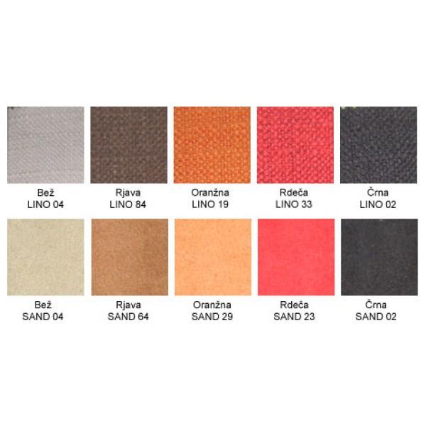Izbor barv in tkanin