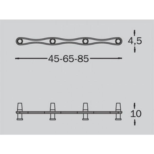 Stenski obešalnik Tattakki line: dimenzije