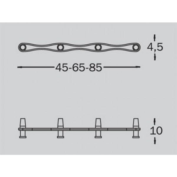 Stenski obešalnik Tattakki line -3 kljuke