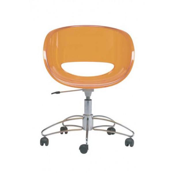 Stol Eye R prozoren oranžne barve