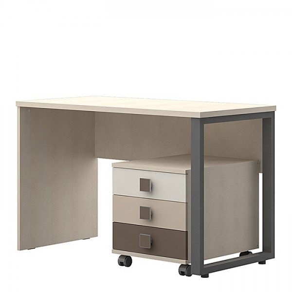 Računalniška miza TRIO -Rjava kombinacija