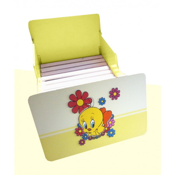Otroška postelja Tweety (rumena)