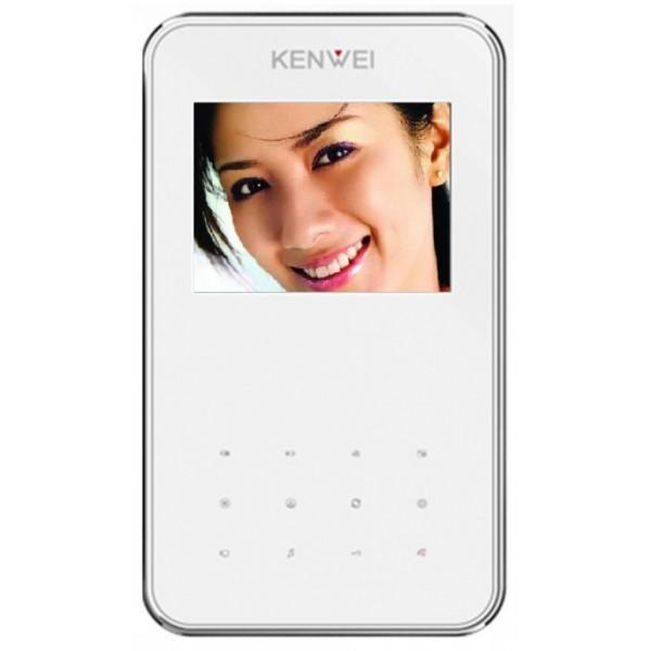 Video domofon Kenwei KW-S351C (s spominom ali brez) - bela notranja enota