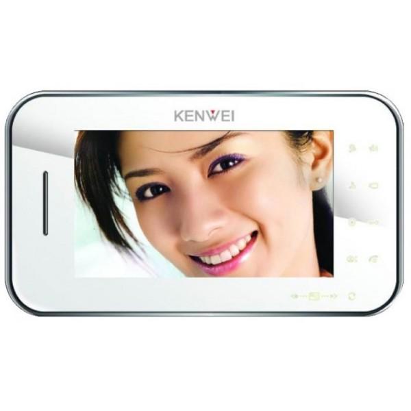 Video domofon Kenwei KW-S702C (s spominom ali brez) - bela notranja enota