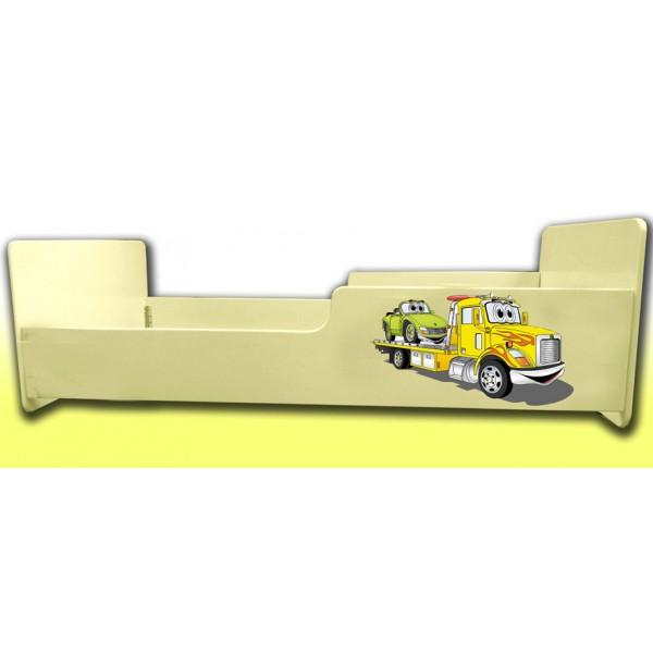 Otroška postelja VLEČNI AVTO (rumena)