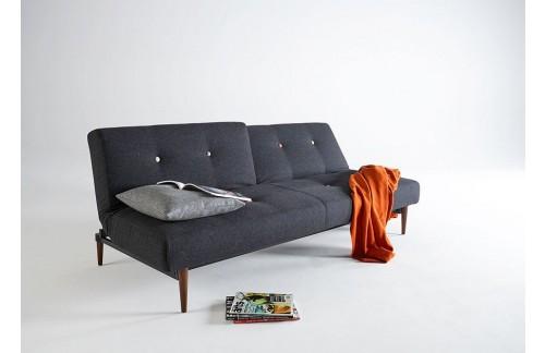 Kavč FIFTYNINE SOFA BED s temno stileto lesenimi nogicami