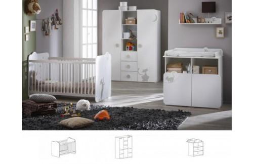Otroška soba KITY 3 delna omara