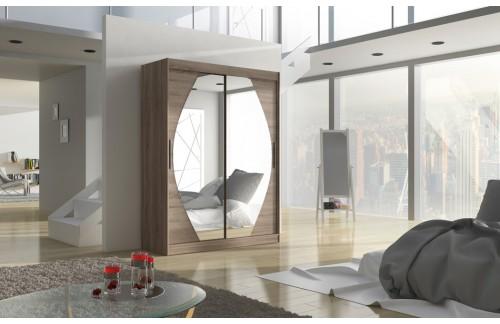 Garderobna omara z drsnimi vrati Alen (150 cm)