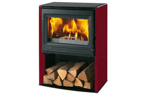Kamin BOSTON 2 - bordo rdeč