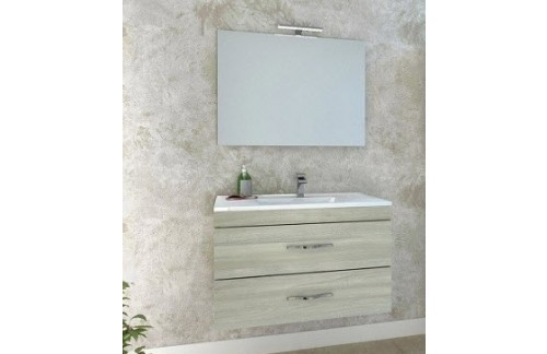 Omarica z umivalnikom CORALLO I. 80 cm - beli hrast - RAZPRODAJA