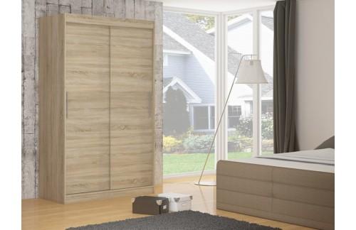 Garderobna omara z drsnimi vrati Denver (150 cm)-Sonoma hrast
