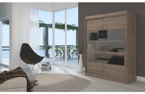 Garderobna omara z drsnimi vrati Florento (150 cm)