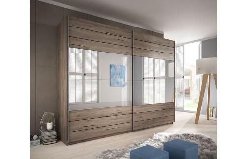Garderobna omara Galant z drsnimi vrati (270 cm) - POŠKODOVANO