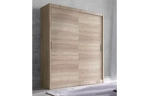 Garderobna omara z drsnimi vrati Alfa (svetla sonoma hrast) - 150 cm